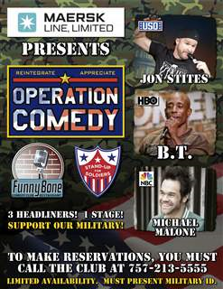 Maersk Line, Limited presents Standup For Soldiers Operation Comedy Tour