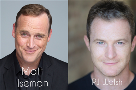 From Ninja Warrior. Matt Iseman & PJ Walsh